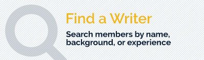 Find a Writer - Search members by name or background