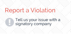 Report a Violation - Tell us your issue with a signatory company